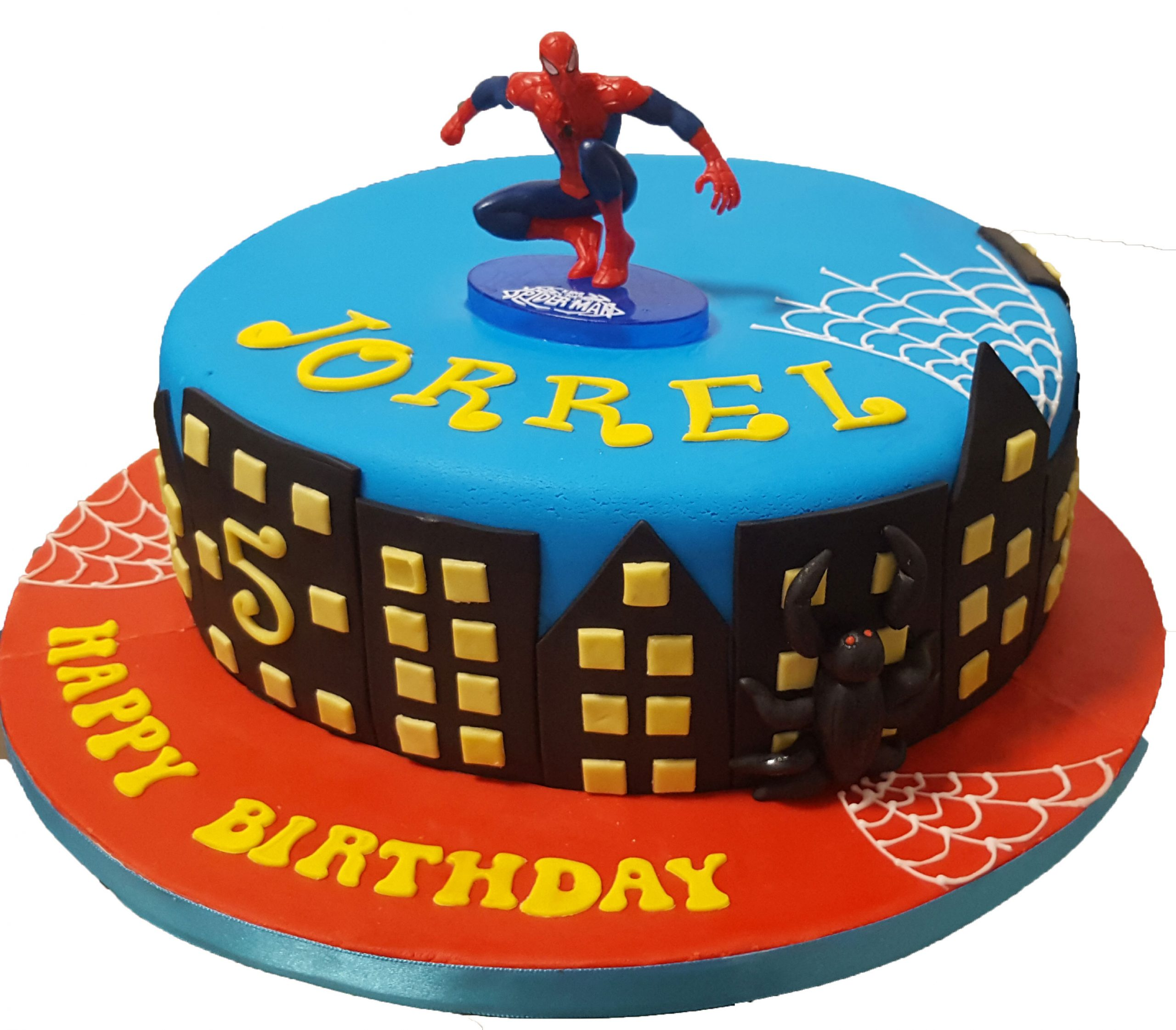 Excellent Cake Boutique Spiderman Birthday Cake Cb Nc090 Cake Boutique Personalised Birthday Cards Paralily Jamesorg