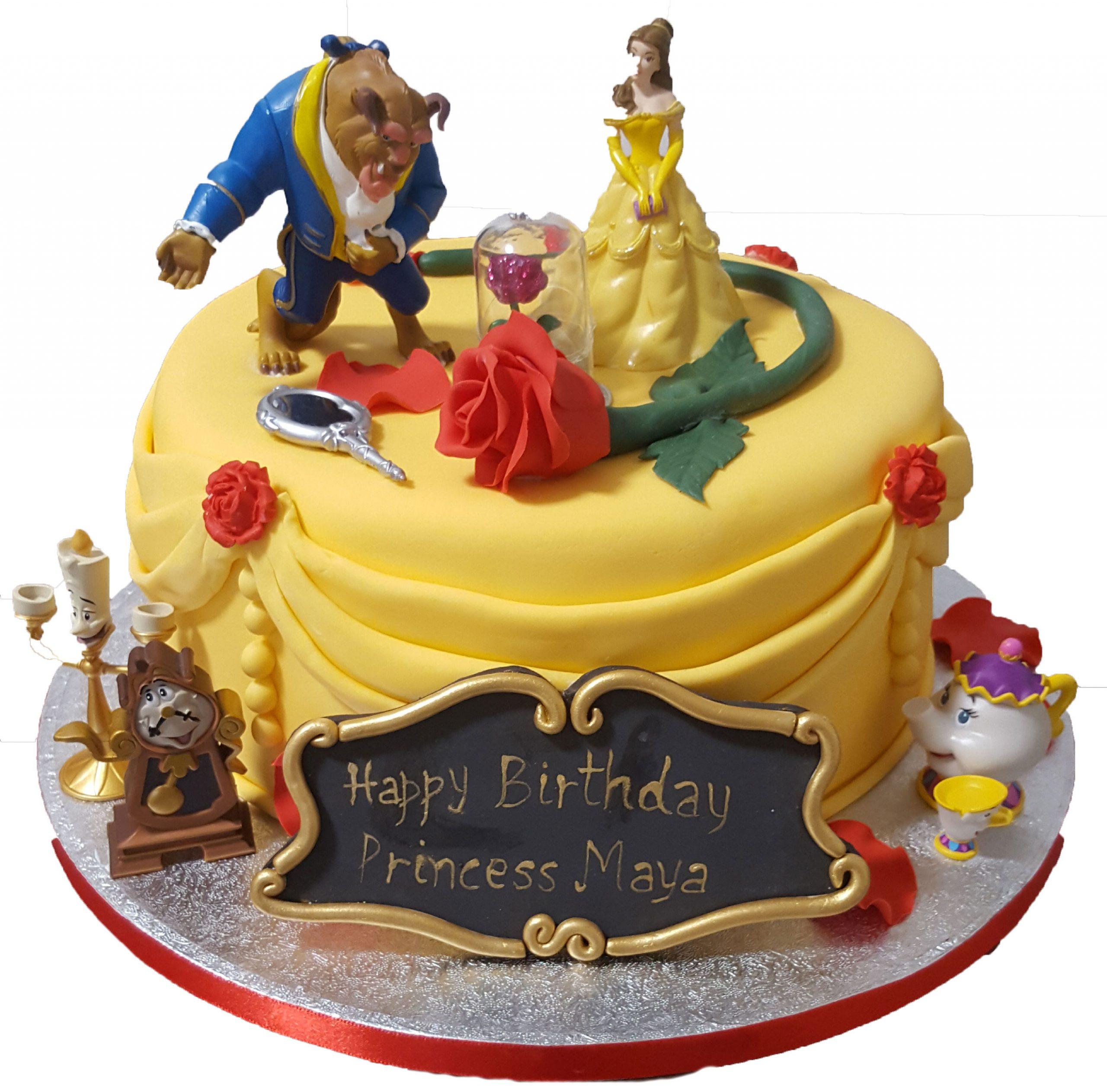 Superb Cake Boutique Beauty And The Beast Birthday Cake Cb Nc114 Cake Funny Birthday Cards Online Elaedamsfinfo