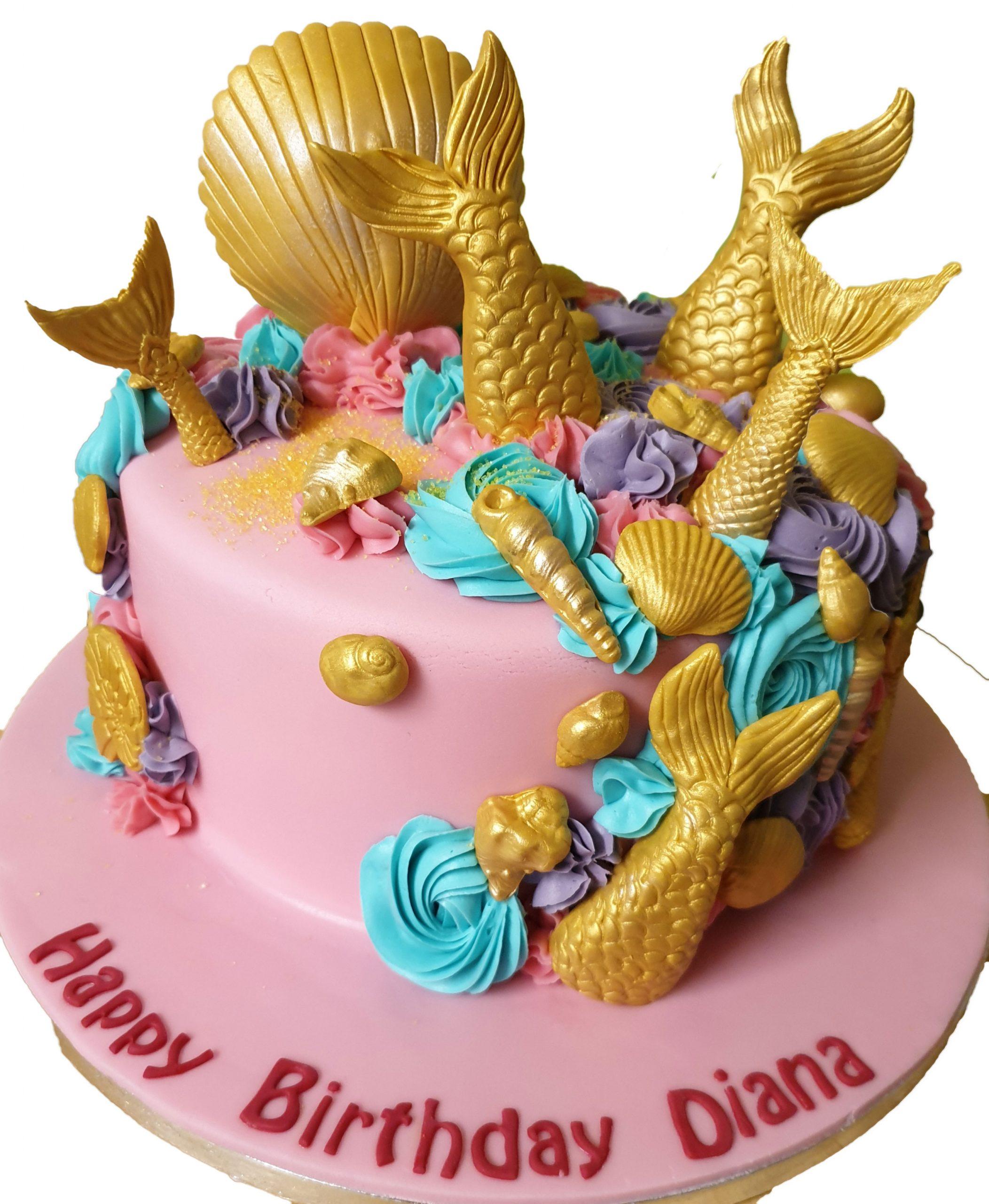 Fabulous Cake Boutique Mermaid Birthday Cake Cb Nc170 Cake Boutique Personalised Birthday Cards Veneteletsinfo